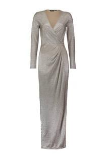 CoolCat maxi jurk met overslag Champagne