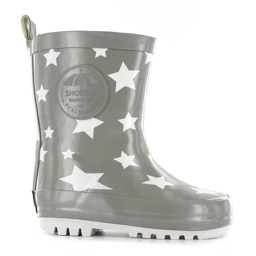 Shoesme   regenlaarzen met sterren kids, Grijs/wit