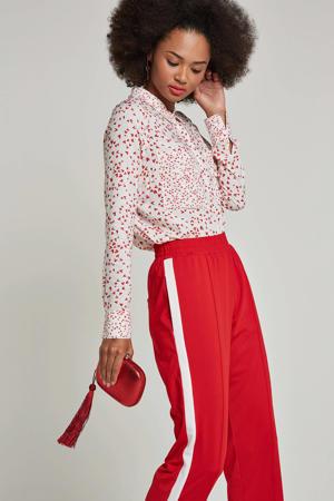 blouse met all-over hartjes dessin