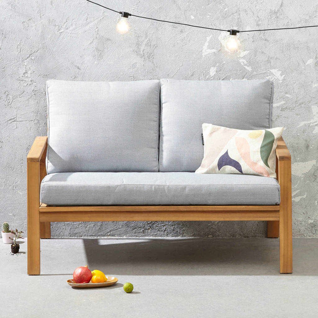 whkmp's own loungebank Cambrils, Lichtgrijs/naturel