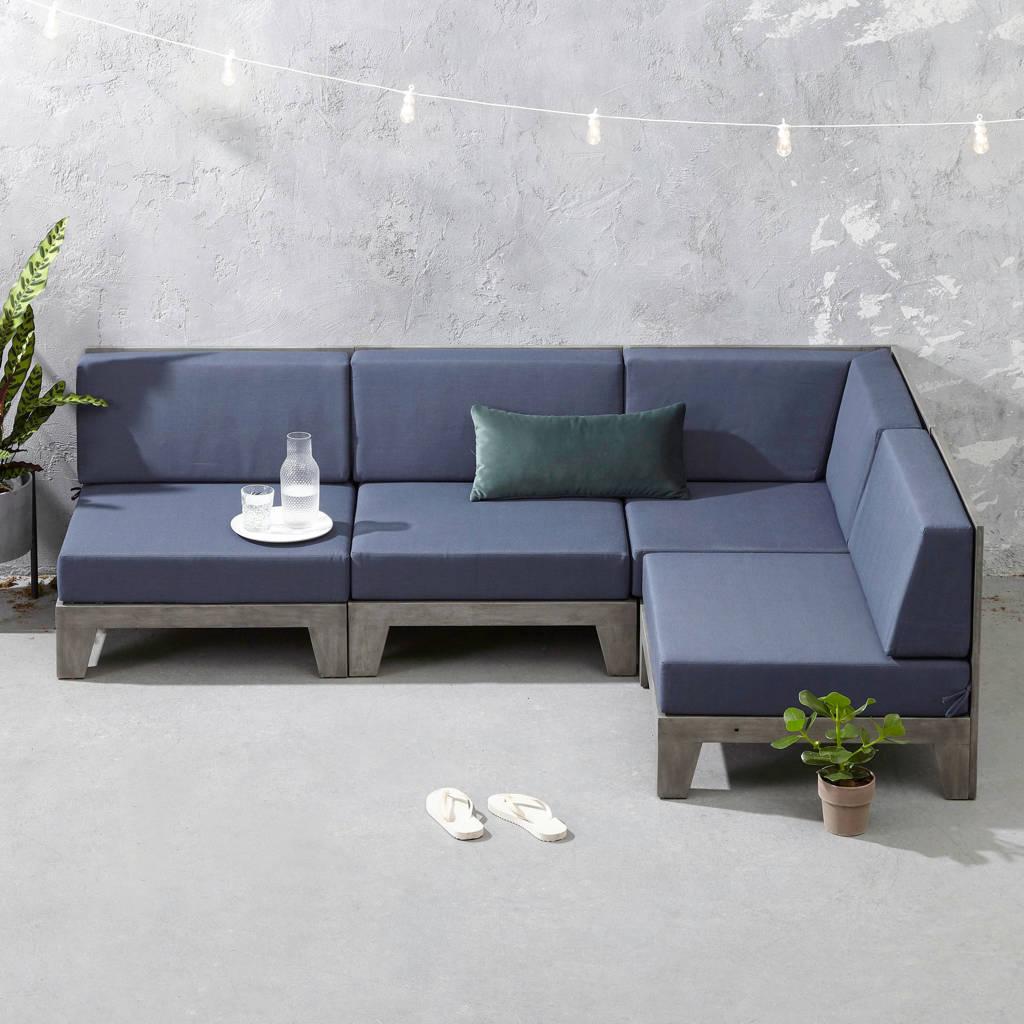 whkmp's own Loungebank Belvi, Grijs/blauw
