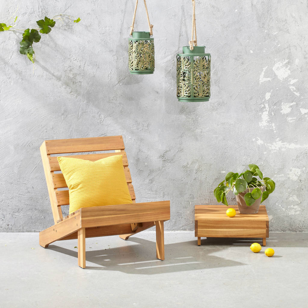 whkmp's own tuinstoel met tafel Carpi, Naturel