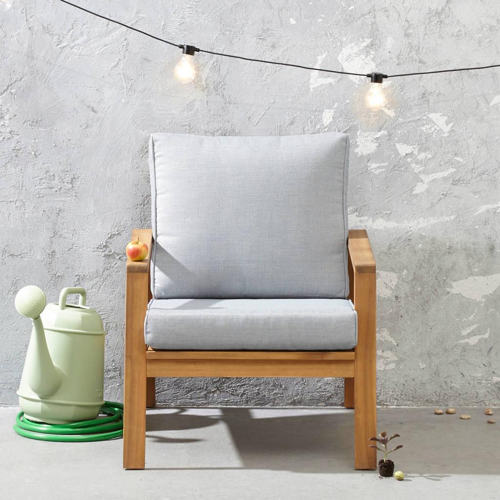 whkmp's own loungestoel Cambrils, Lichtgrijs/naturel