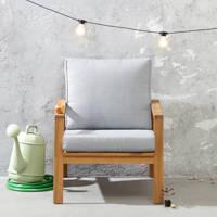 whkmp's own loungestoel Cambrils, Grijsblauw/naturel