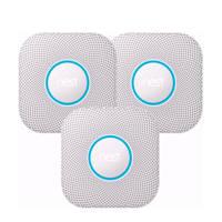 Google Nest Protect V2 Batterij 3 pack Protect rookmelder 3 stuks, Wit