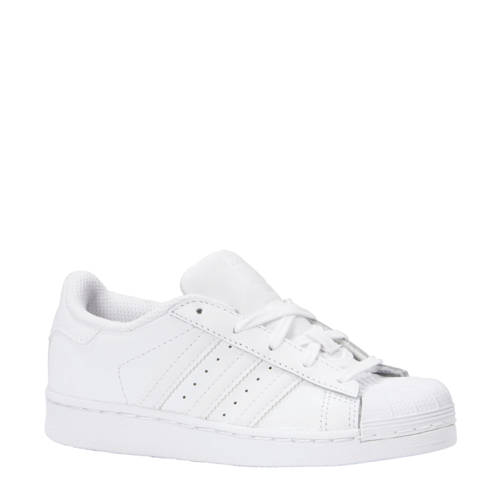 leren Superstar C sneakers wit