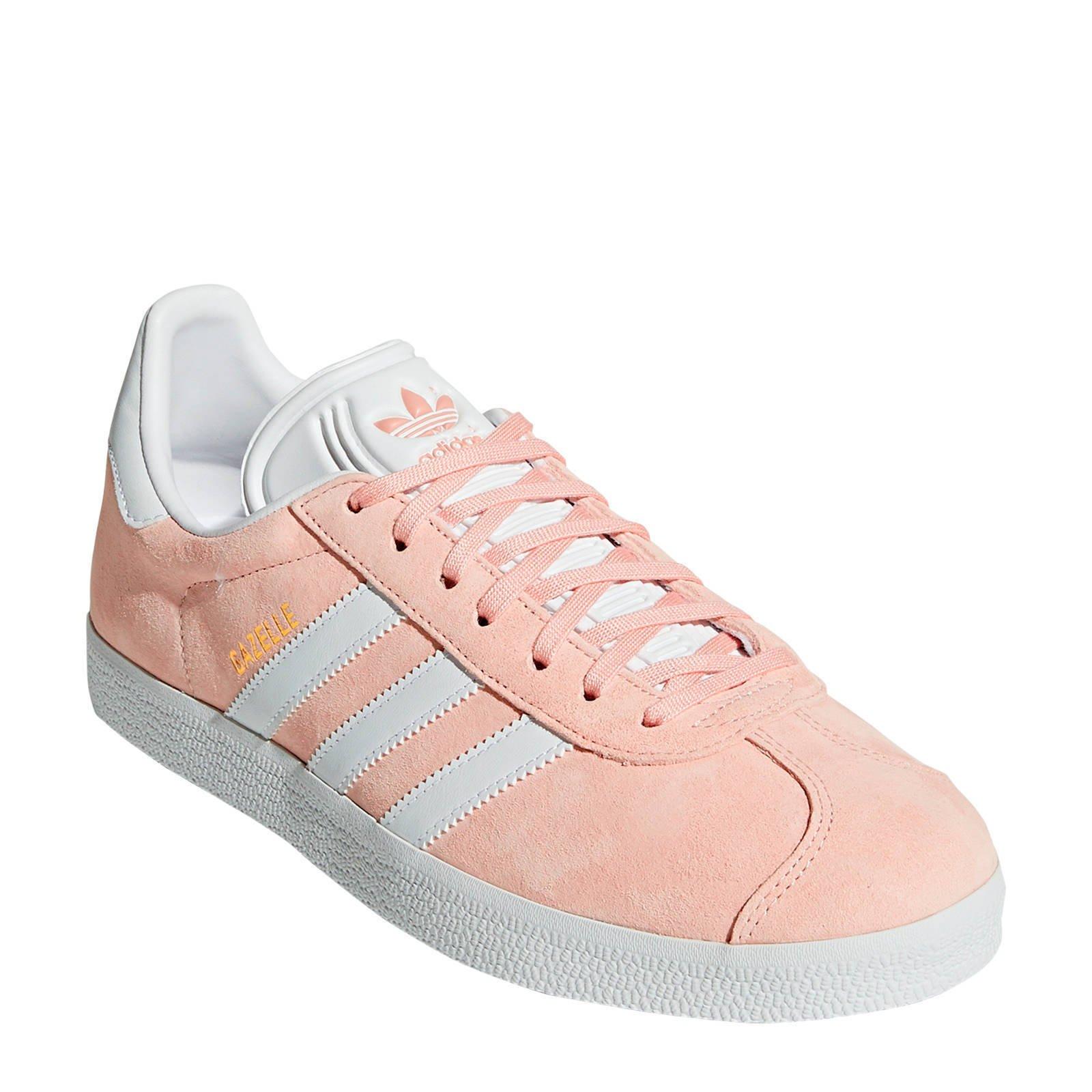 adidas Originals Gazelle sneakers lichtrozewit | wehkamp
