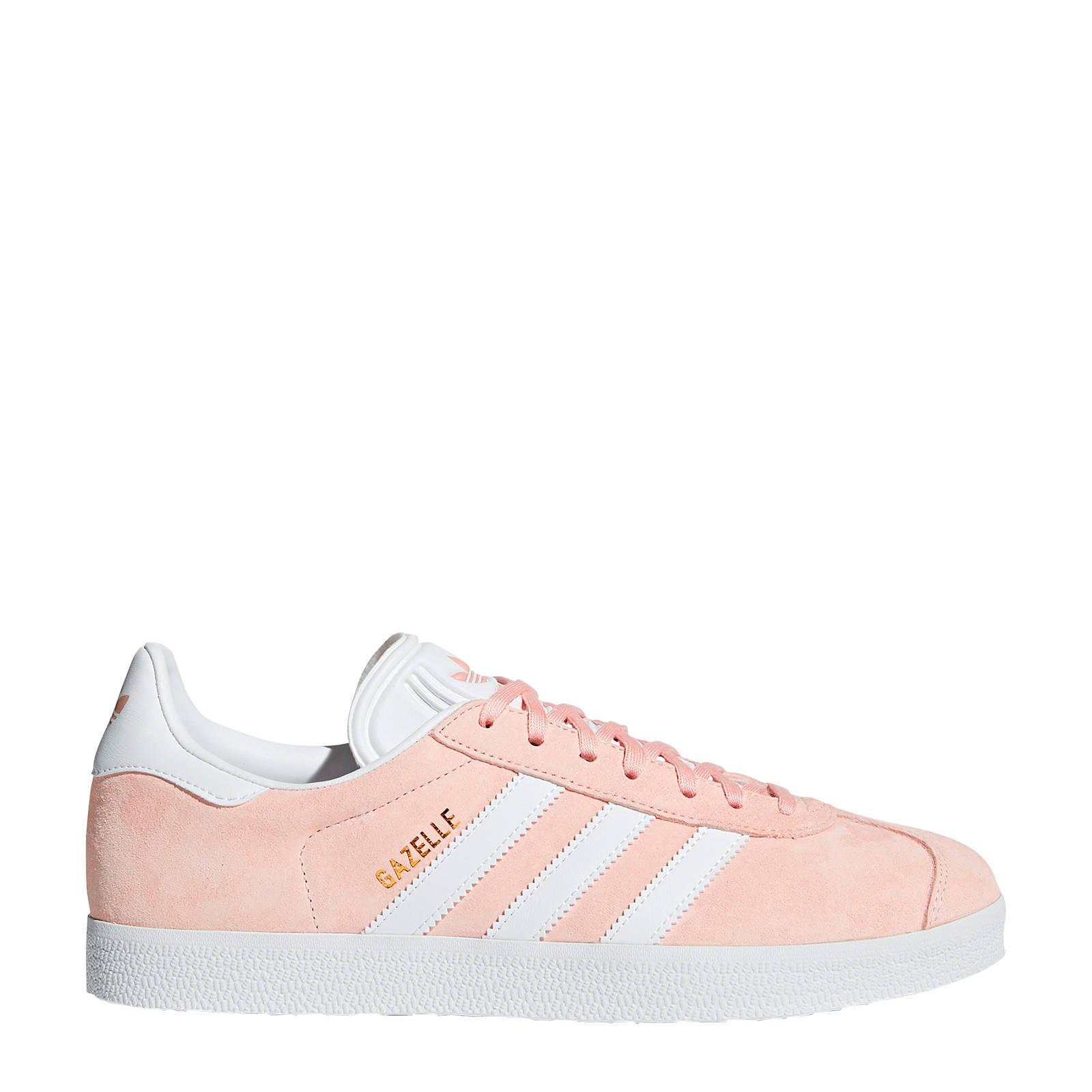 adidas originals Gazelle sneakers lichtroze/wit   wehkamp