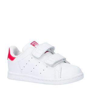 Stan Smith CF I leren sneakers wit/roze