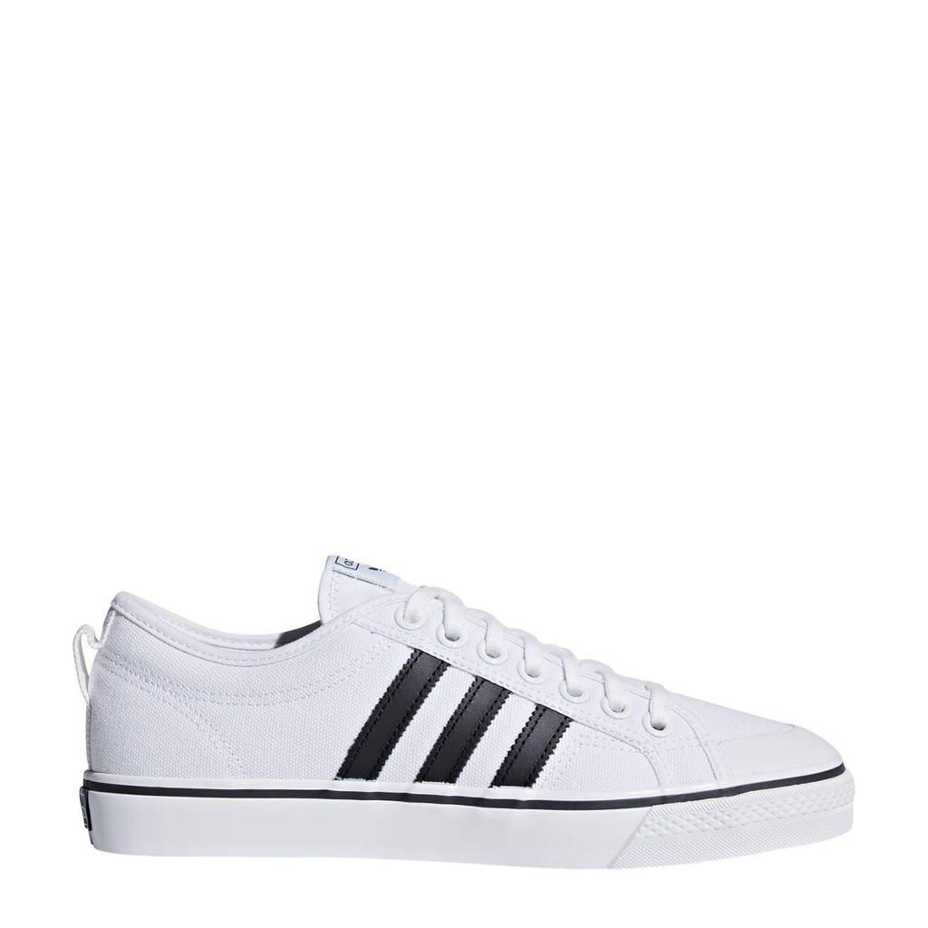 adidas Originals Nizza  sneakers wit/zwart, Wit/zwart, Canvas