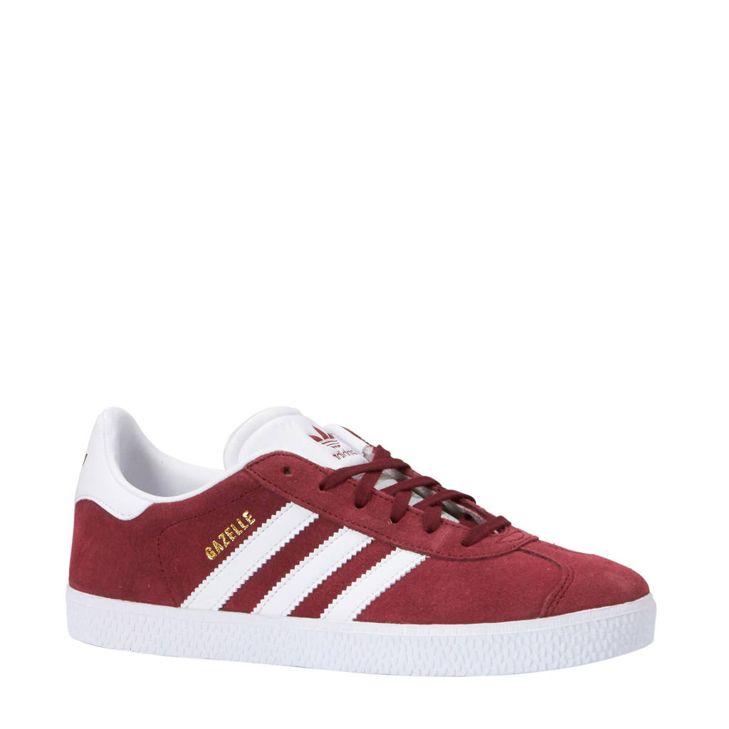 adidas originals  Gazelle sneakers donkerrood, Bordeaux/wit