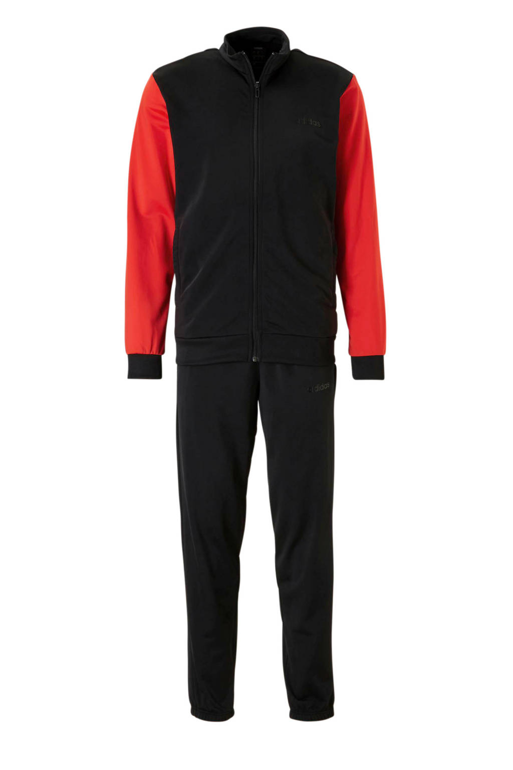 adidas performance   trainingspak zwart/rood, Zwart/rood