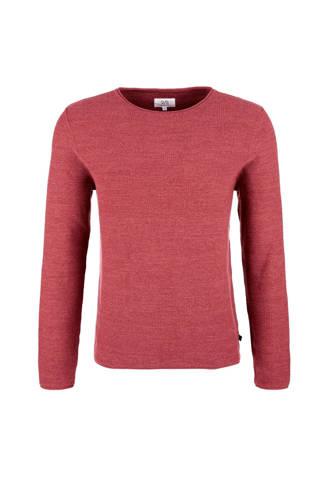 gemêleerde trui met textuur rood