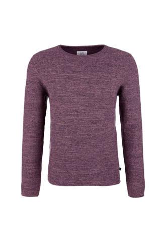 gemêleerde trui met textuur paars