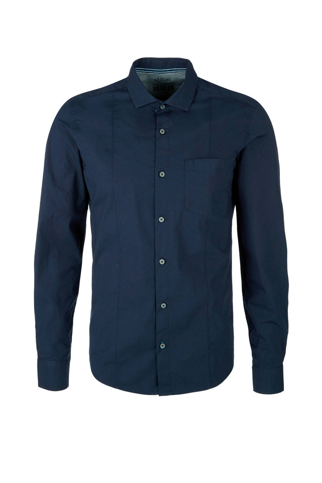 s.Oliver slim fit overhemd, Blauw