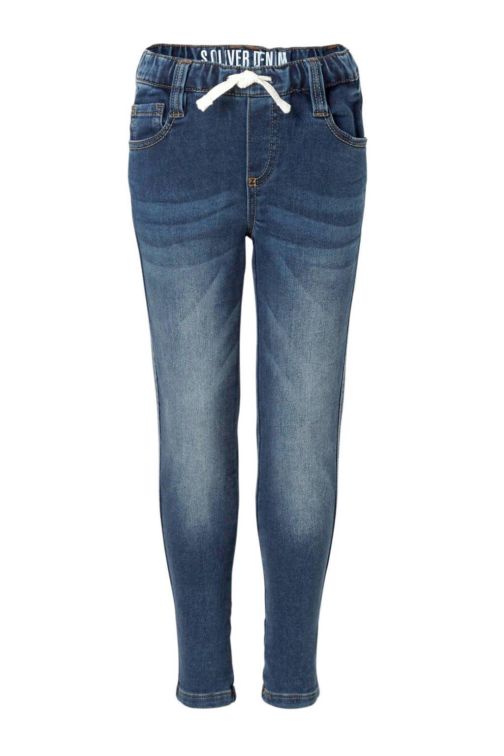 s.Oliver stone washed jeans denim, Blauw