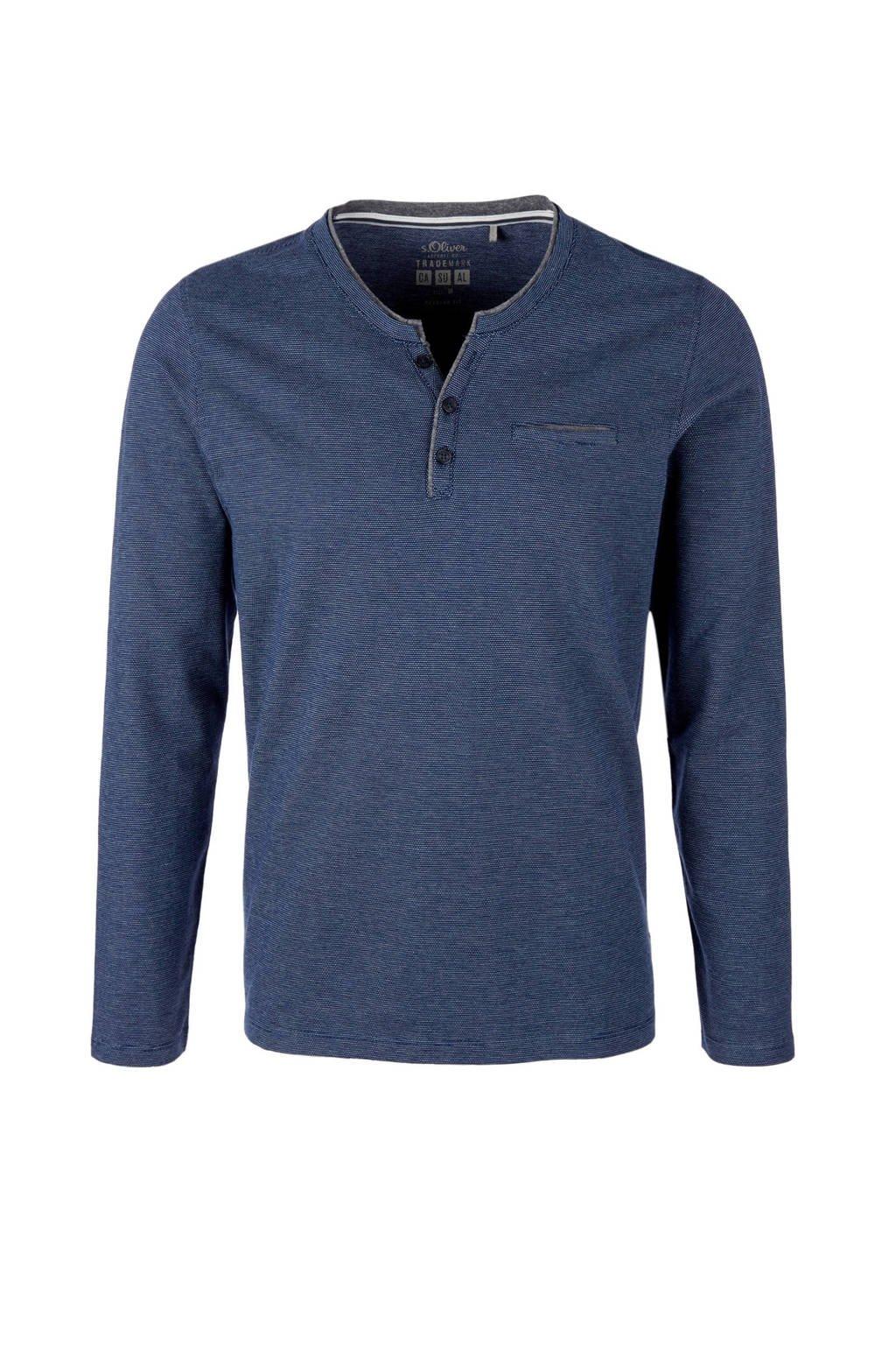 s.Oliver T-shirt lange mouw, Blauw
