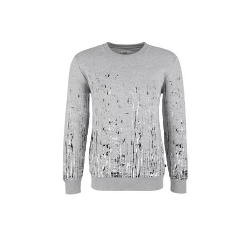 Q/S designed by gemêleerde sweater met verfspatten grijs kopen