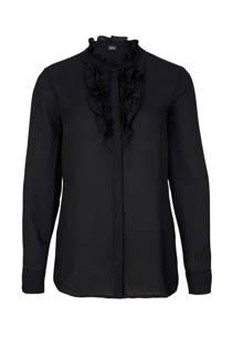 s.Oliver BLACK LABEL blouse met volant zwart (dames)