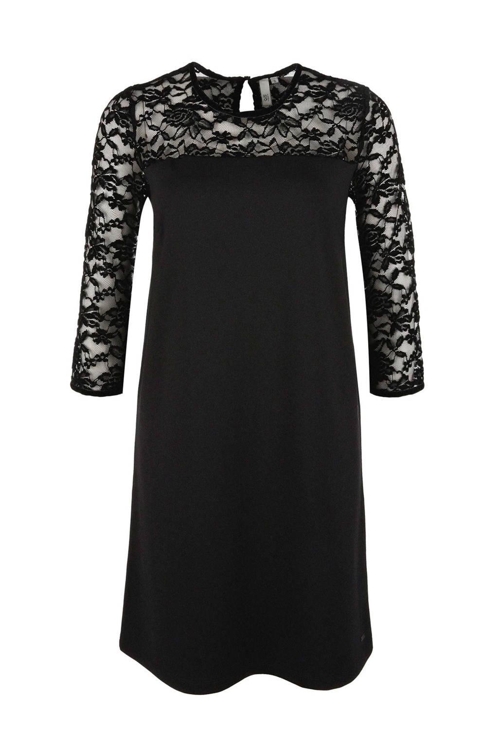 Q/S designed by jurk met kant zwart, Zwart