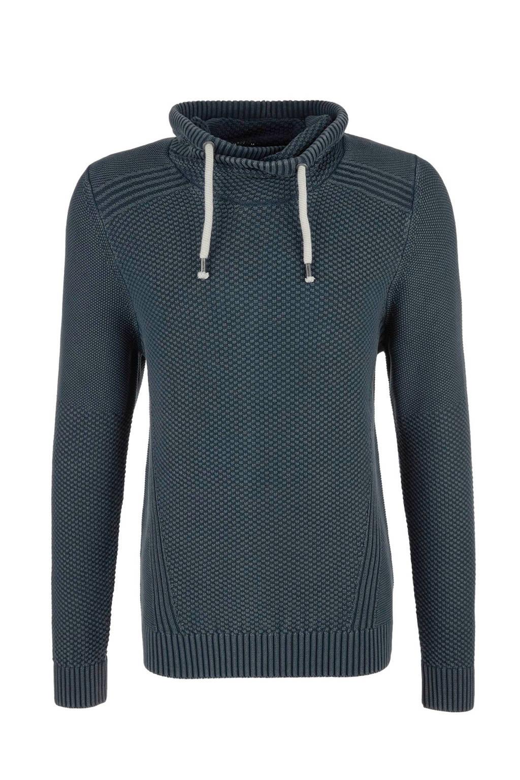 s.Oliver trui met print donkerblauw, Donkerblauw
