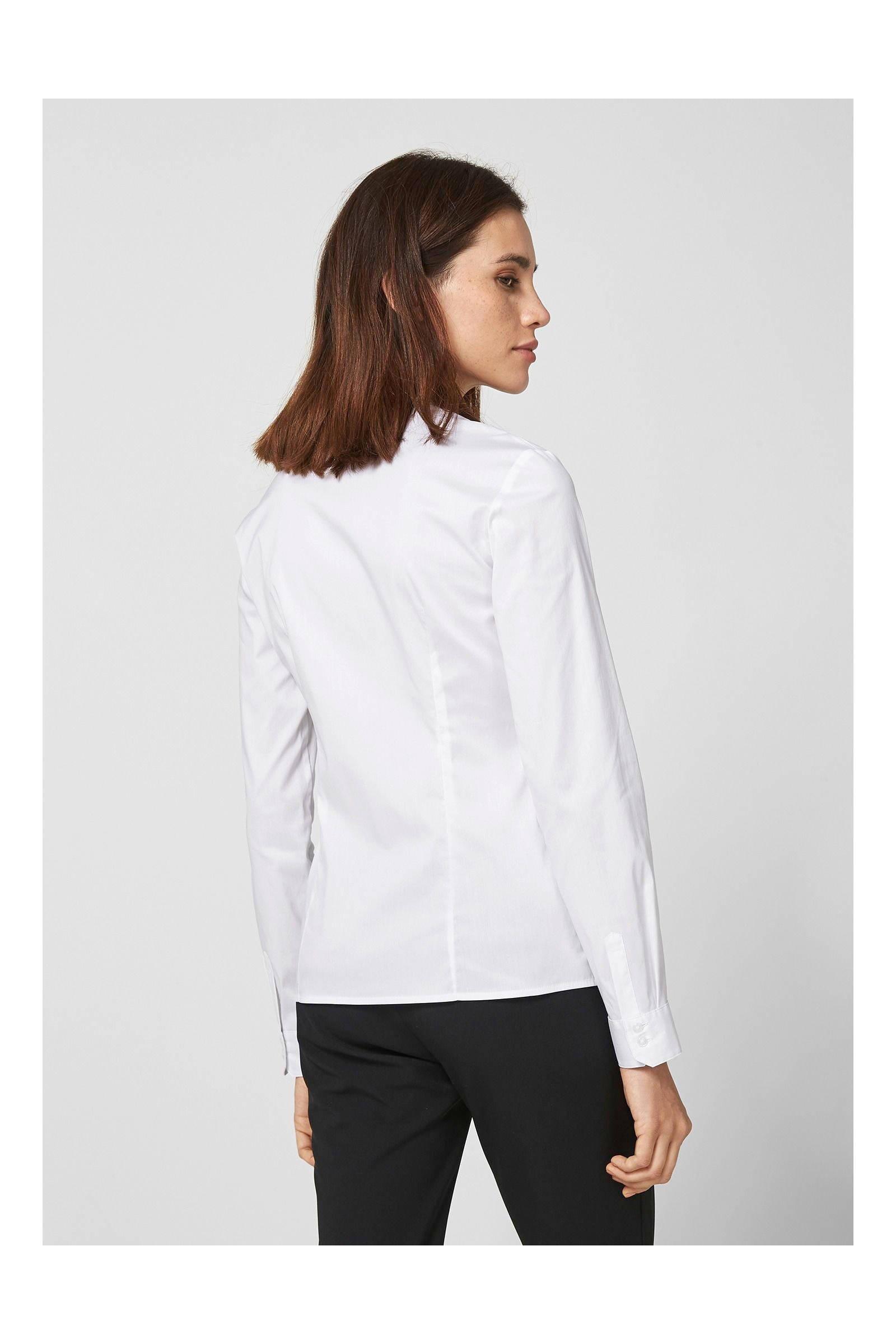 Oliver s BLACK wit verborgen LABEL overhemd met knooplijst xTwqxrRU