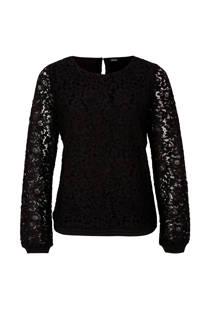 s.Oliver BLACK LABEL top met kant zwart (dames)