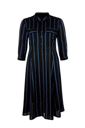 blousejurk met streep zwart