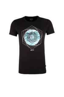 Q/S designed by T-shirt met printopdruk zwart