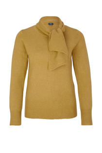 s.Oliver BLACK LABEL trui met brede strik licht groen (dames)