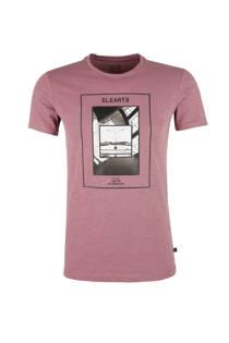 Q/S designed by T-shirt met printopdruk paars