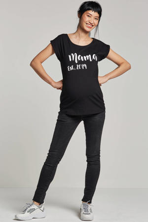 zwangerschaps T-shirt Mama zwart