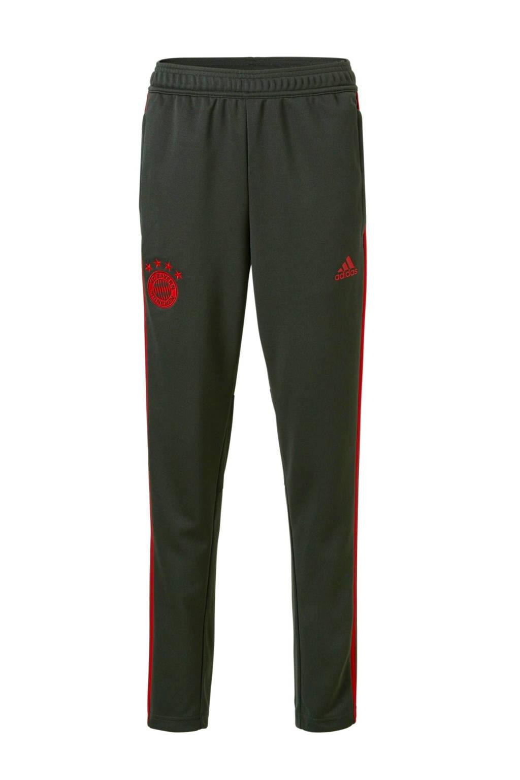 adidas performance Junior FC Bayern München sportbroek, Donkergroen/rood