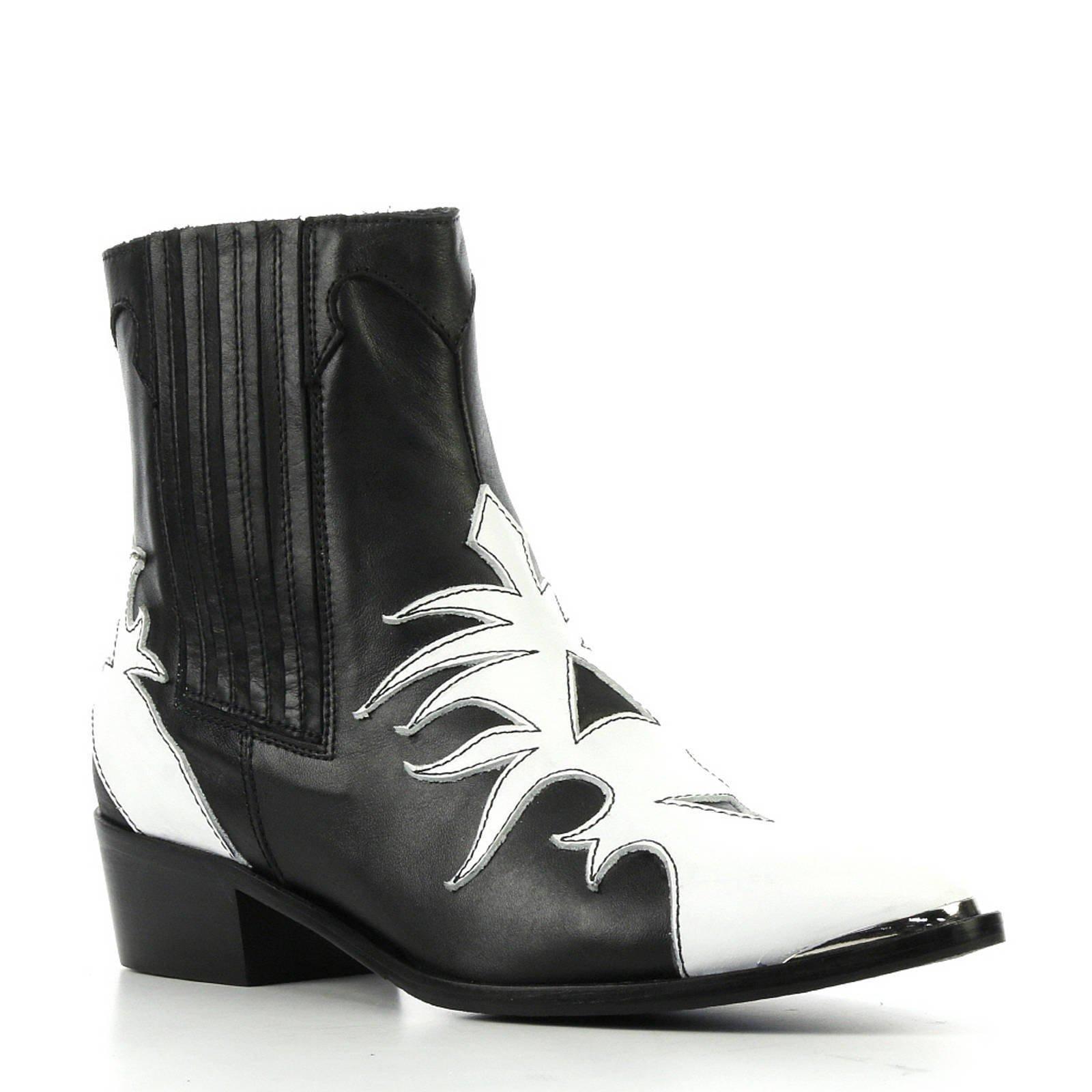 Cowboy Laarzen ZwartWit