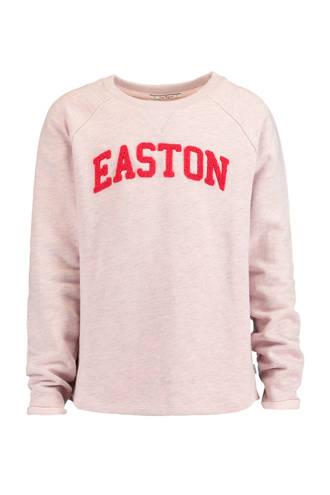 sweater Lena met tekstopdruk lila