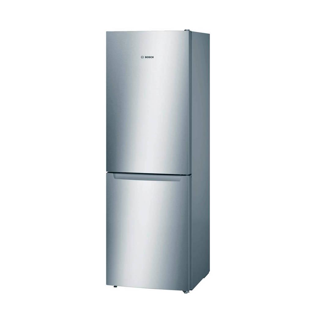 Bosch KGN33NL20 koelvriescombinatie, RVS-look, zijkant zilver metallic