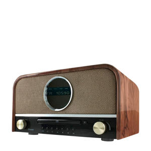 nostalgische bluetooth radio wood