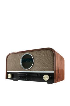 nostalgische bluetooth radio wood