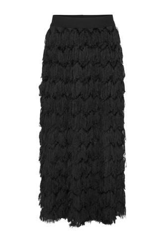 harige rok zwart