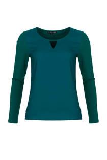 La Ligna top turquoise (dames)