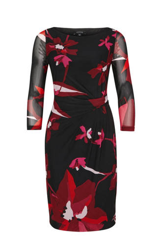 jurk met all over motief zwart