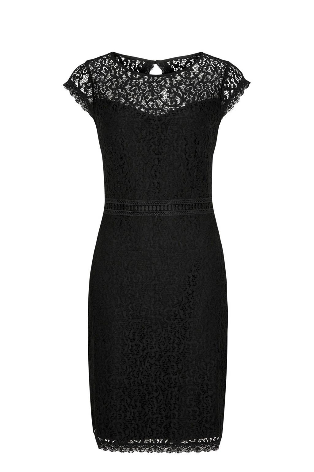 comma kanten jurk zwart, Zwart