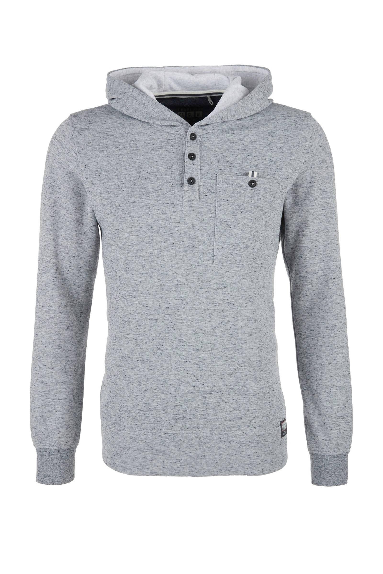 s.Oliver  gemêleerde sweater grijs (heren)