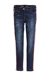 s.Oliver slim fit jeans met zijstreep (meisjes)