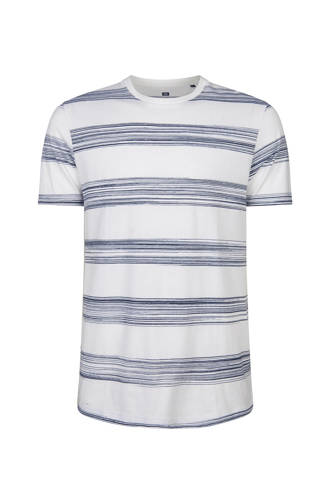 slim fit T-shirt met streepdessin wit