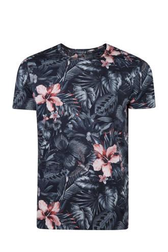 slim fit T-shirt met bloemprint