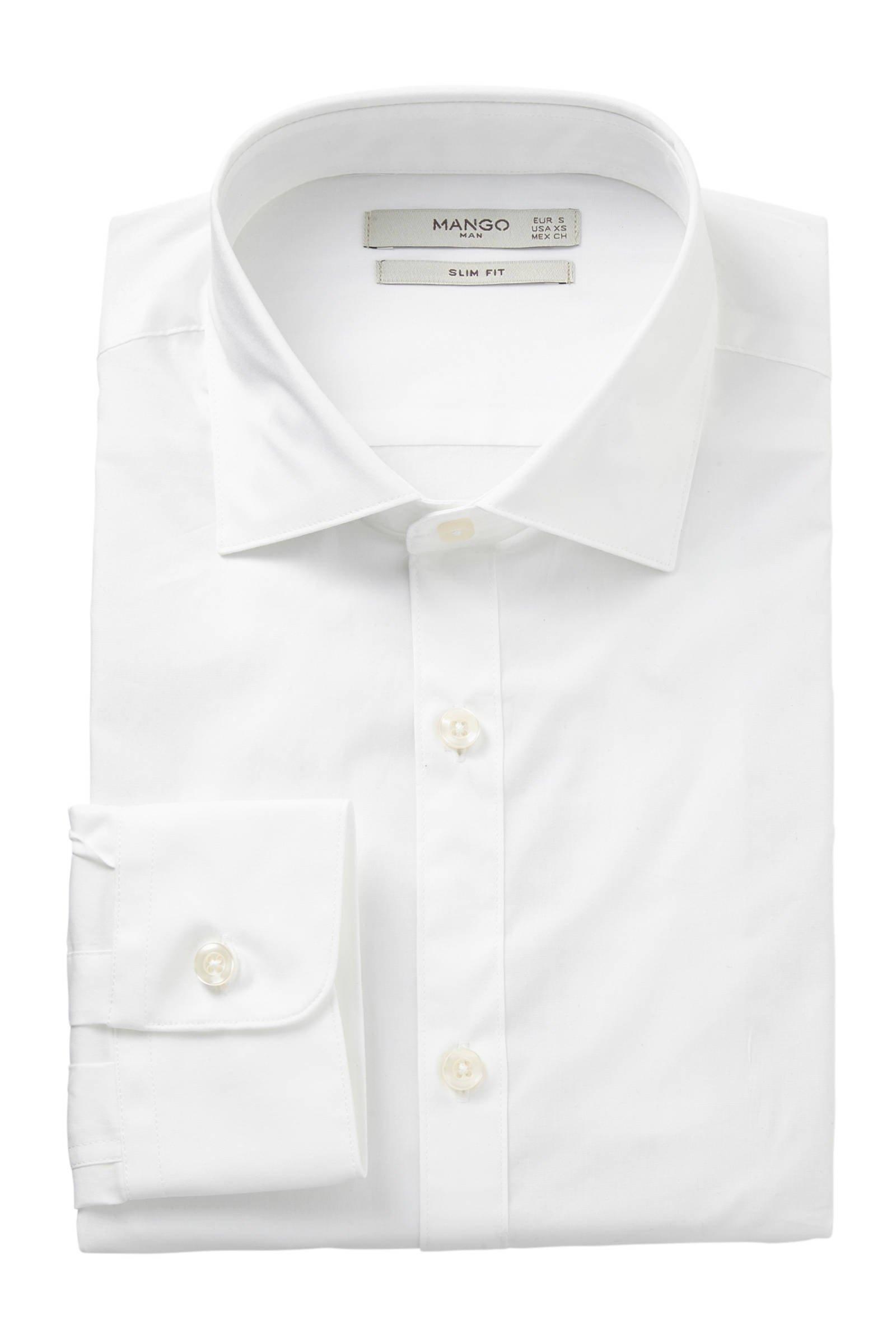 Mango Man Overhemd Slim Fit WitWehkamp HIWED29