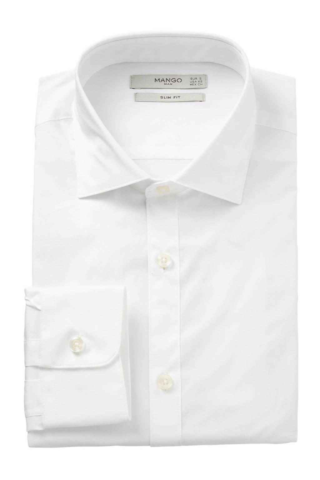 Overhemd Wit Slim Fit.Mango Man Slim Fit Overhemd Wit Wehkamp