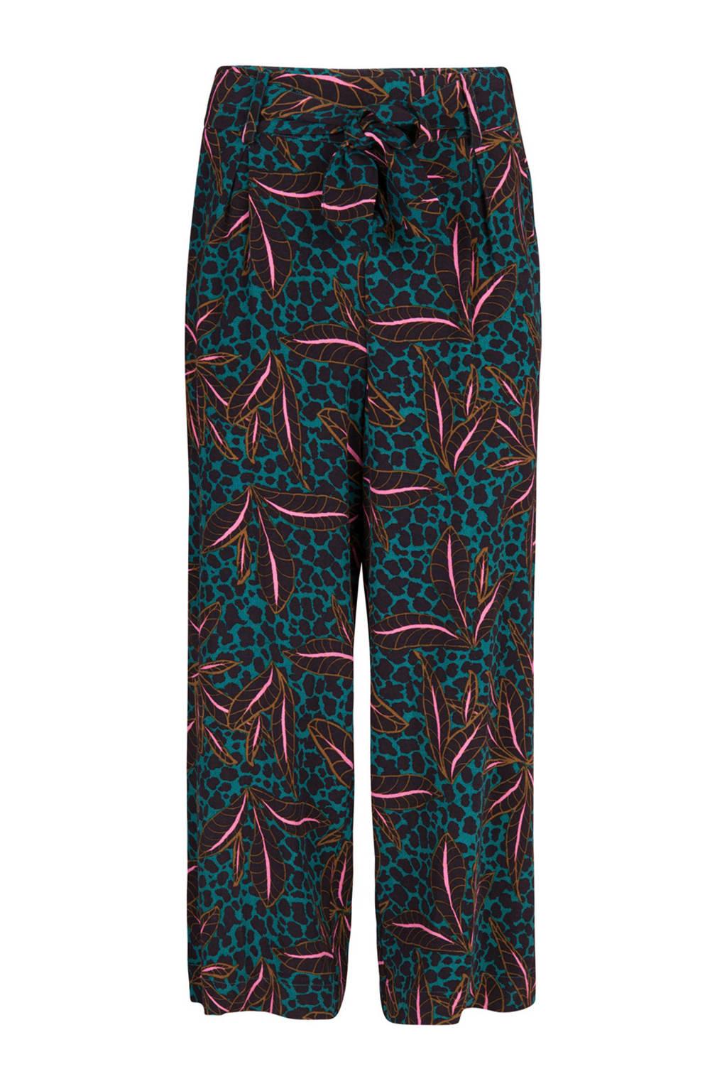 WE Fashion cropped loose fit broek met all over print multi, Multi