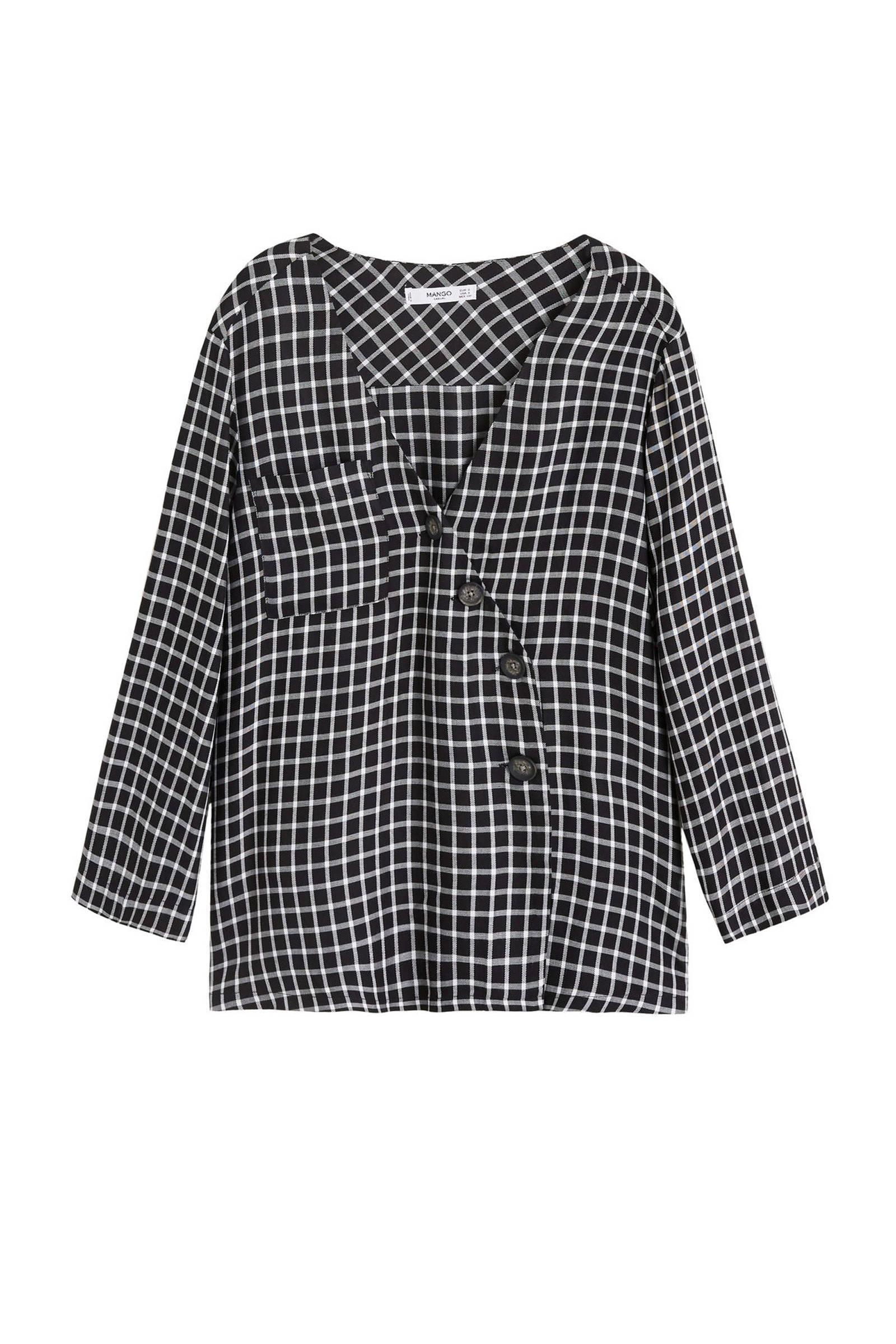 mango blouse zwart